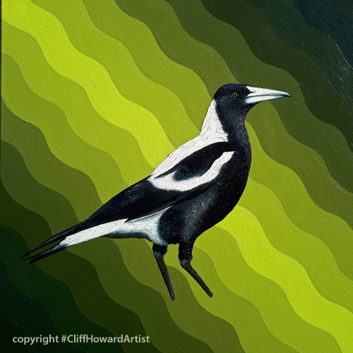 painting of a magpie [sold]